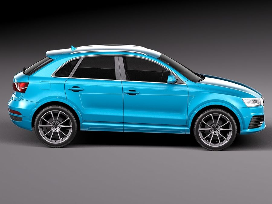 Audi Q3 2015 royalty-free 3d model - Preview no. 7