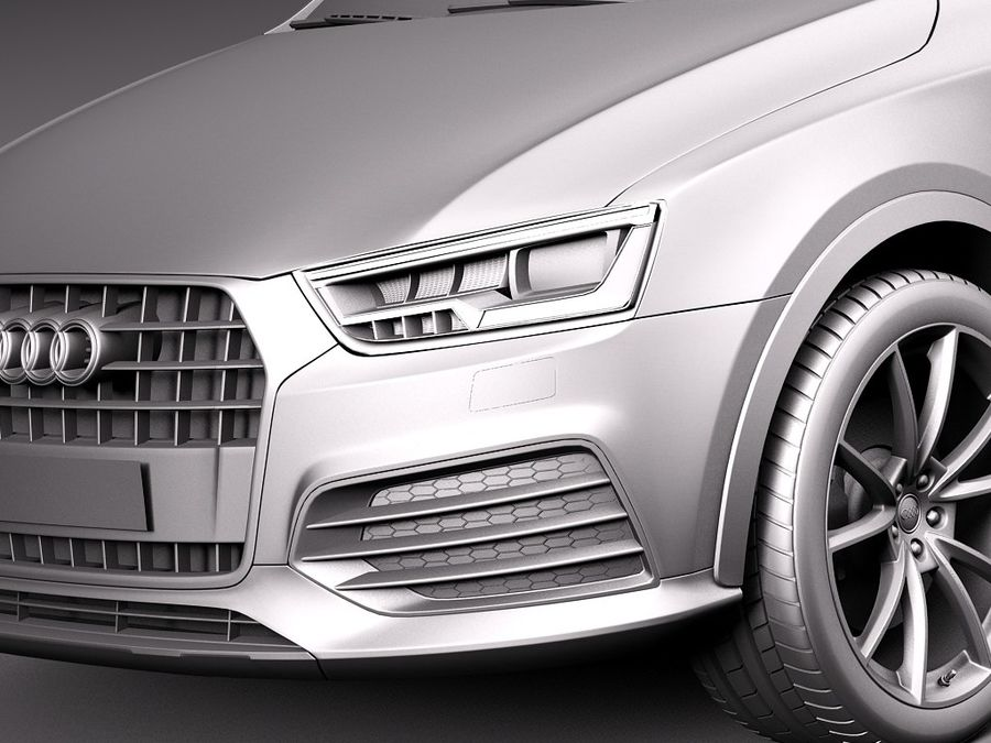 Audi Q3 2015 royalty-free 3d model - Preview no. 10