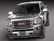 2015年GMC Canyon DoubleCab 3d model