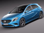 Mercedes-Benz A180 Eco 2015 3d model