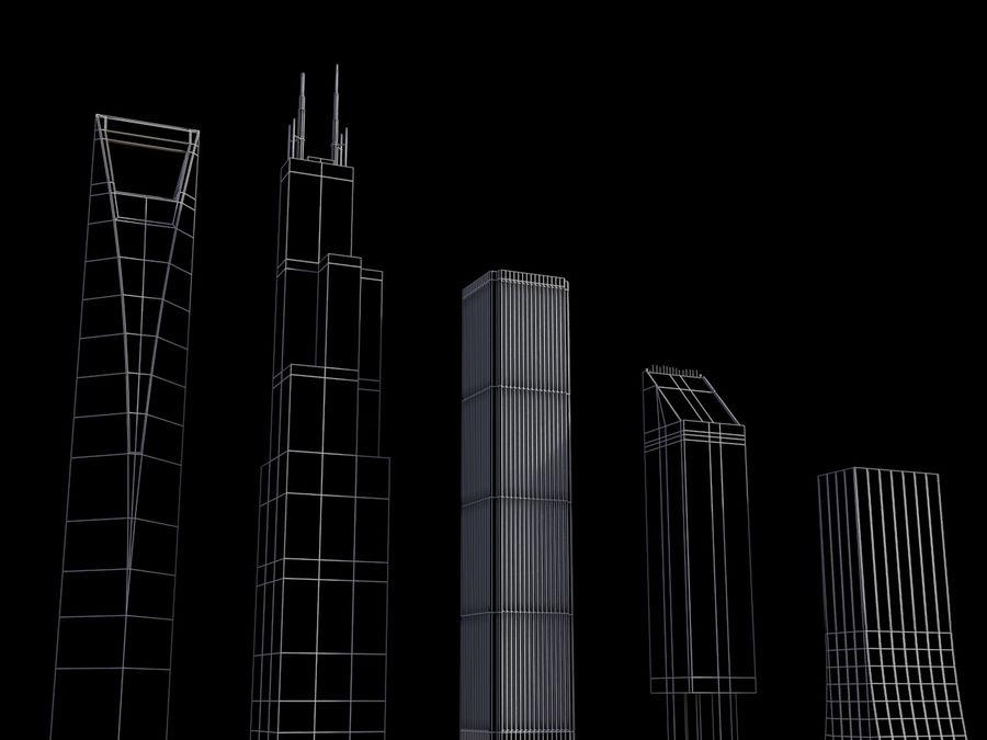 Buildings vol_2 royalty-free 3d model - Preview no. 5