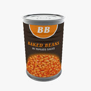 Food Can - Baked Beans 3d model