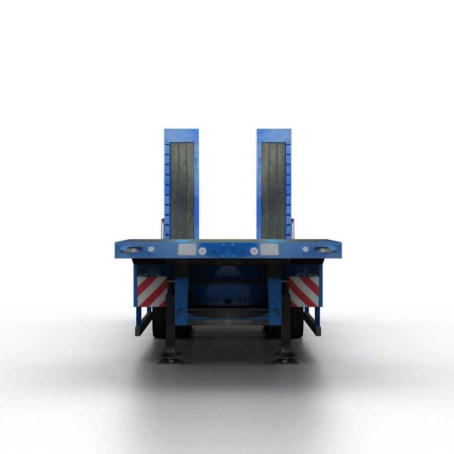 Semitrailer Low Loader royalty-free 3d model - Preview no. 4