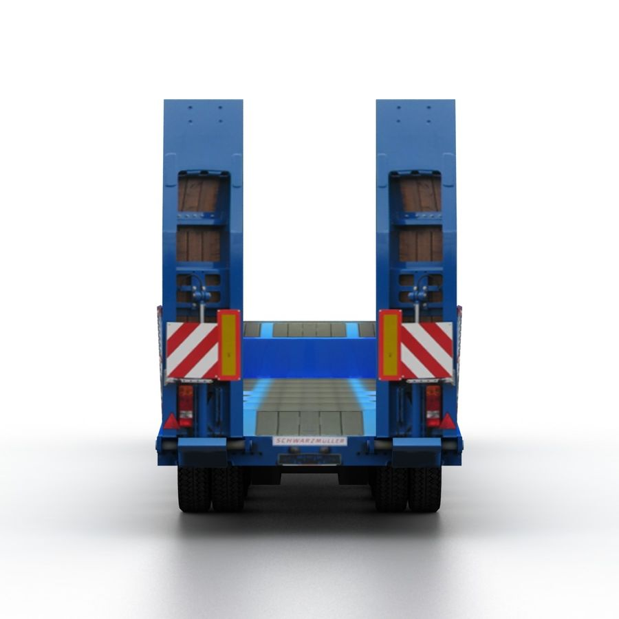 Semitrailer Low Loader royalty-free 3d model - Preview no. 5