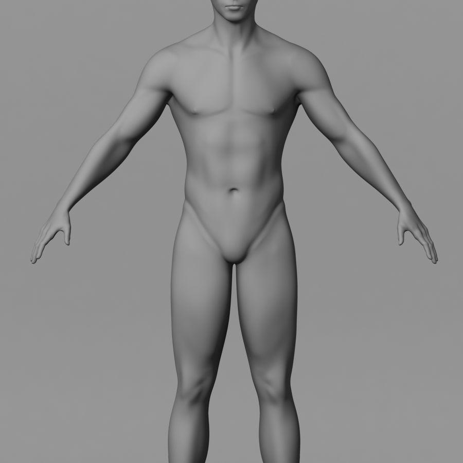 Human Male Base Mesh royalty-free 3d model - Preview no. 1