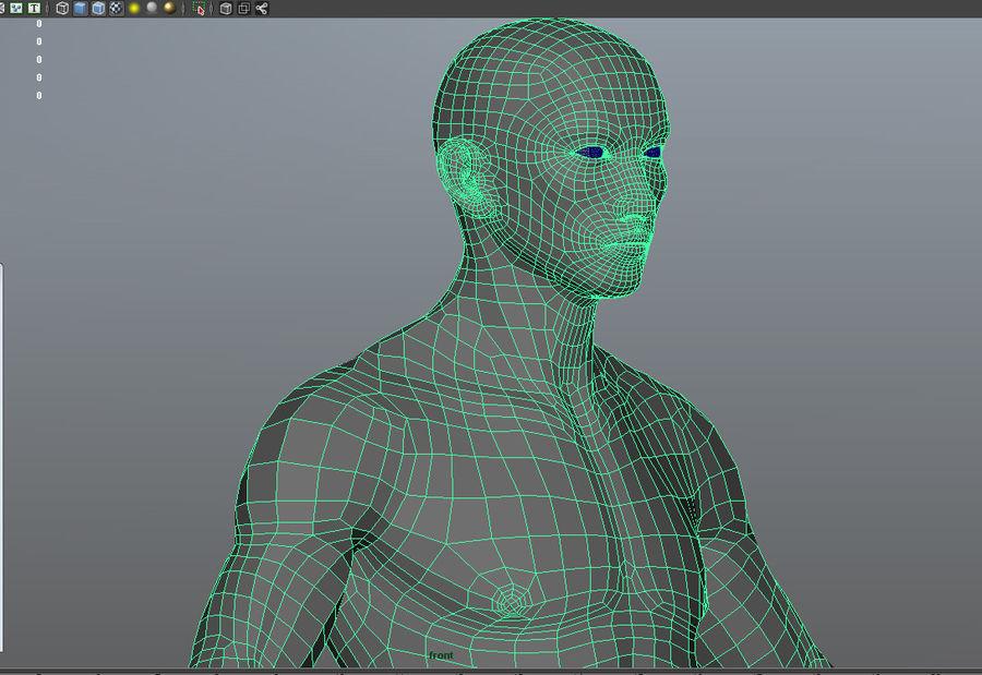 Human Male Base Mesh royalty-free 3d model - Preview no. 12