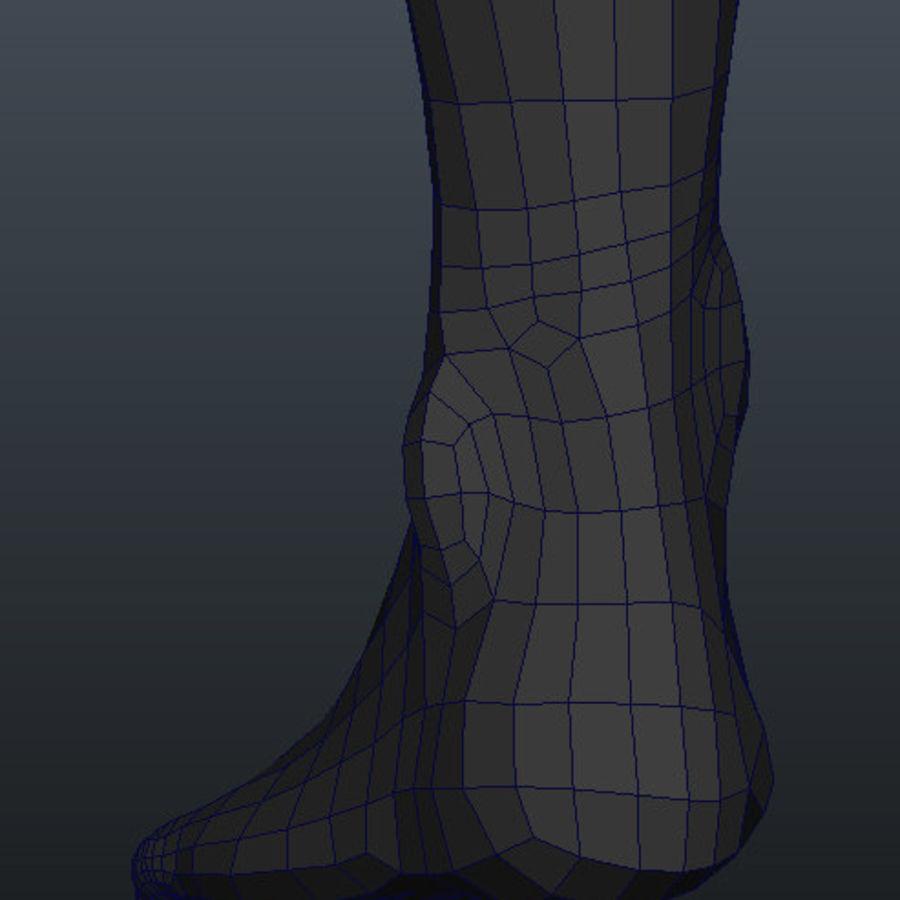 Human Male Base Mesh royalty-free 3d model - Preview no. 9