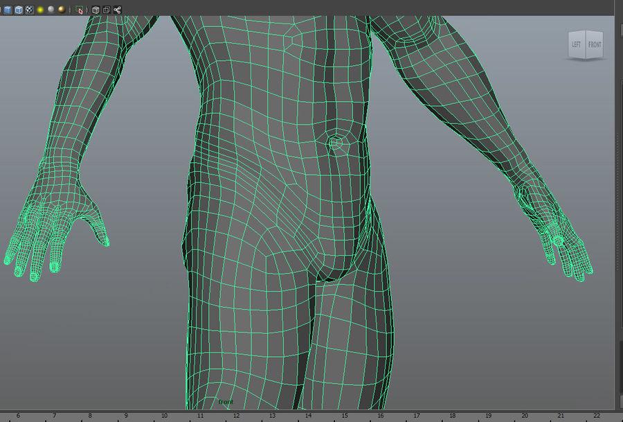 Human Male Base Mesh royalty-free 3d model - Preview no. 13