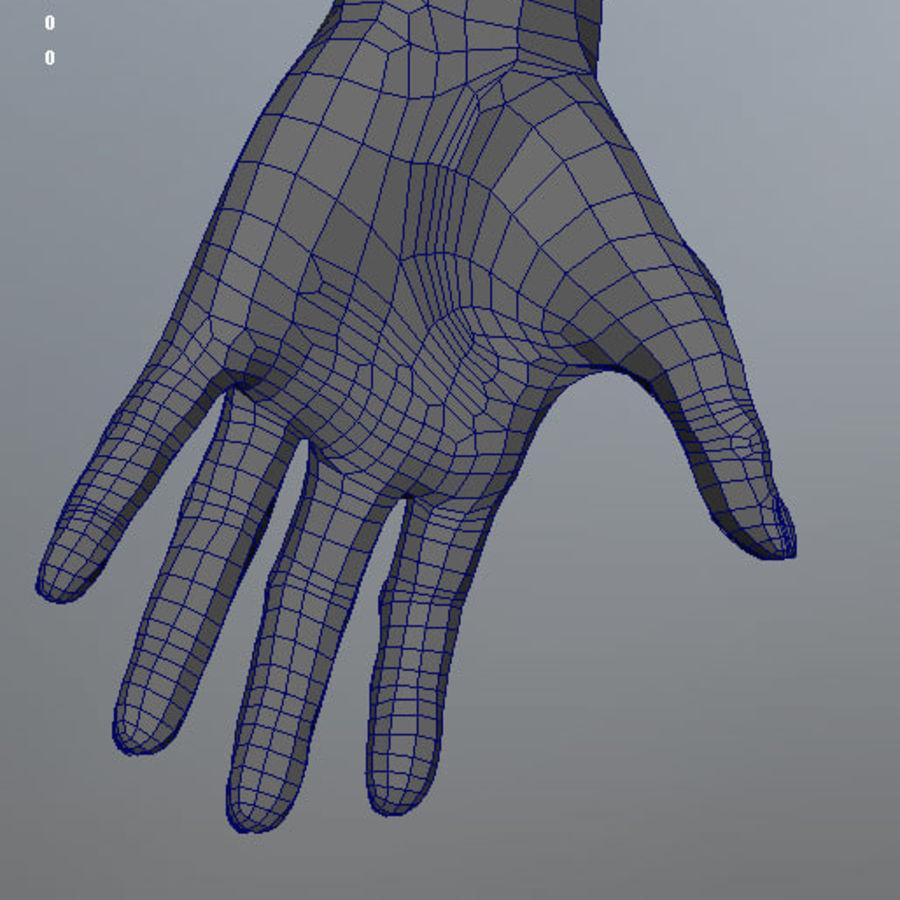 Human Male Base Mesh royalty-free 3d model - Preview no. 28