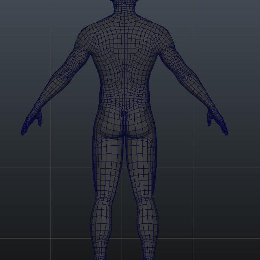 Human Male Base Mesh royalty-free 3d model - Preview no. 22