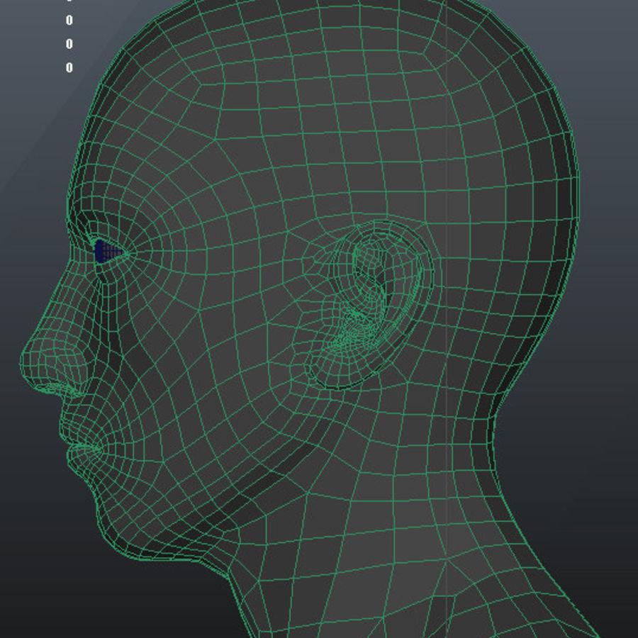 Human Male Base Mesh royalty-free 3d model - Preview no. 30