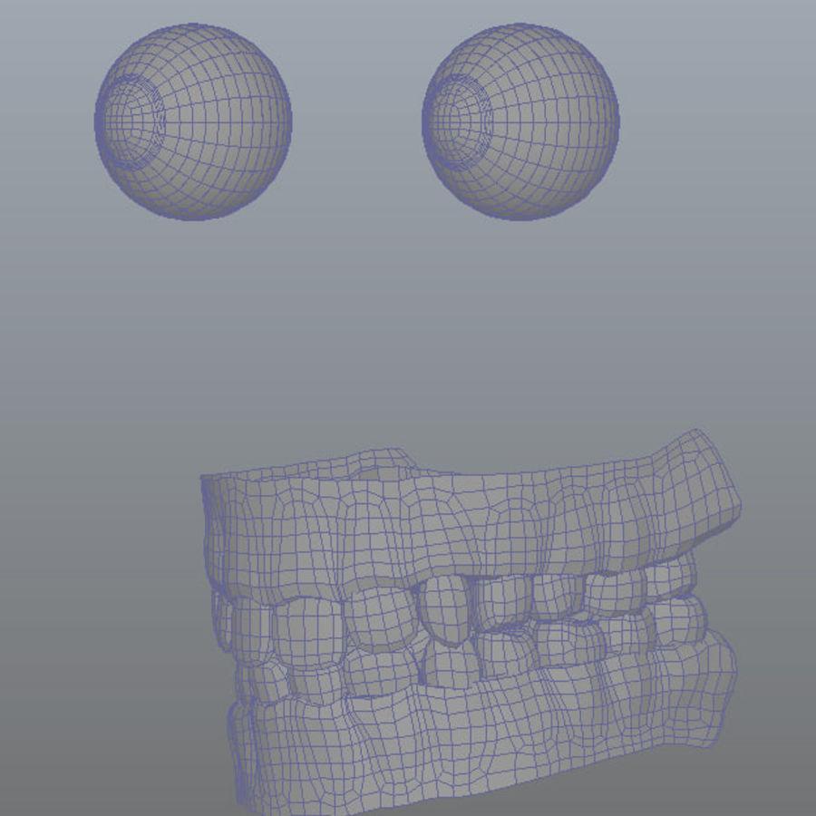 Human Male Base Mesh royalty-free 3d model - Preview no. 10
