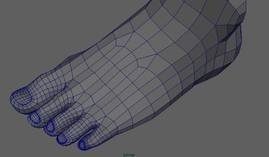 Human Male Base Mesh royalty-free 3d model - Preview no. 26