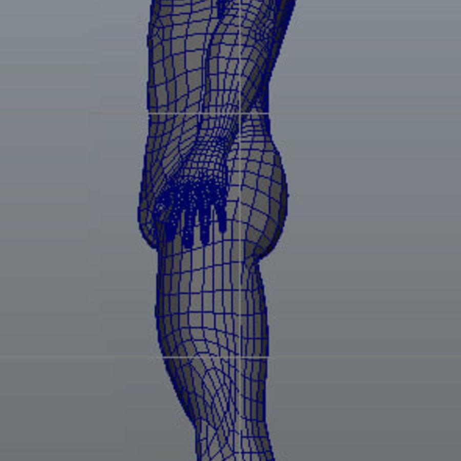 Human Male Base Mesh royalty-free 3d model - Preview no. 23
