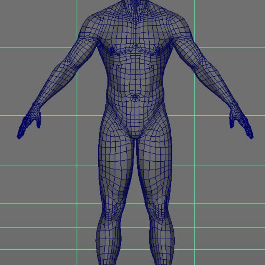 Human Male Base Mesh royalty-free 3d model - Preview no. 25