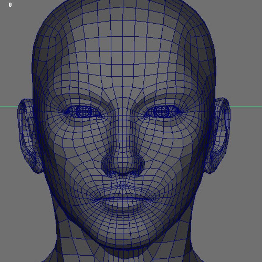 Human Male Base Mesh royalty-free 3d model - Preview no. 29