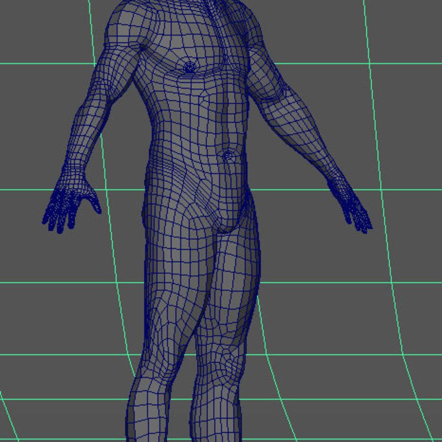 Human Male Base Mesh royalty-free 3d model - Preview no. 24