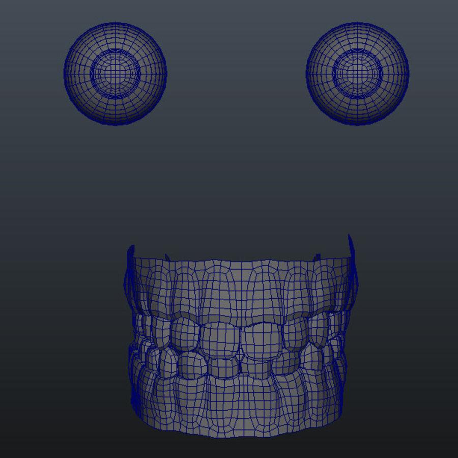 Human Male Base Mesh royalty-free 3d model - Preview no. 11