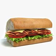 서브 샌드위치 하프 3d model