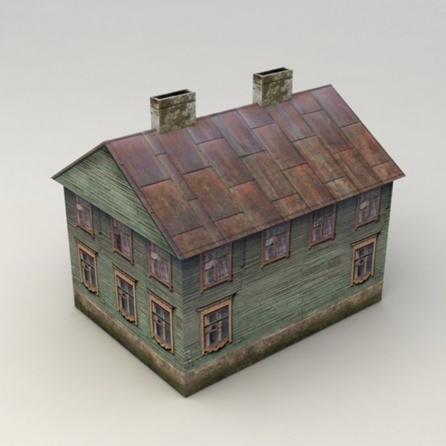 Rural house royalty-free 3d model - Preview no. 2
