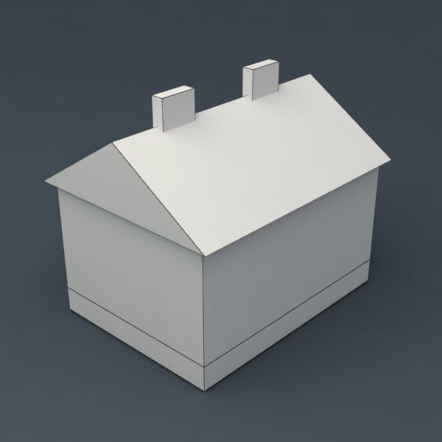 Rural house royalty-free 3d model - Preview no. 5