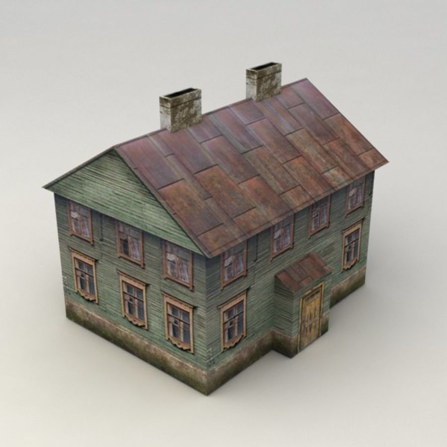 Rural house royalty-free 3d model - Preview no. 1