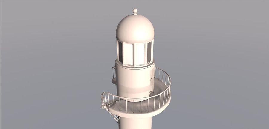 Lighthouse Punta Cankun royalty-free 3d model - Preview no. 3