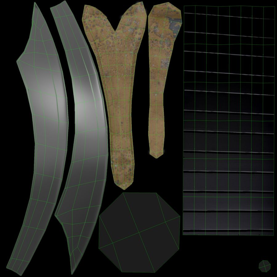 Pirate Sword royalty-free 3d model - Preview no. 6