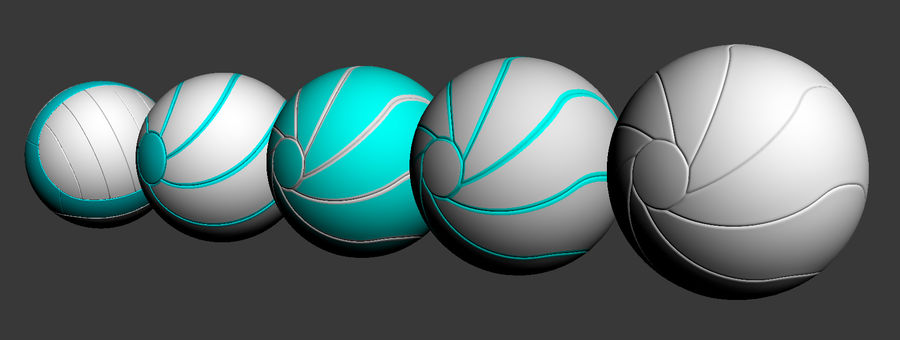 ballen royalty-free 3d model - Preview no. 11