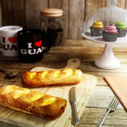 Beef Sausage Croissant 3d model