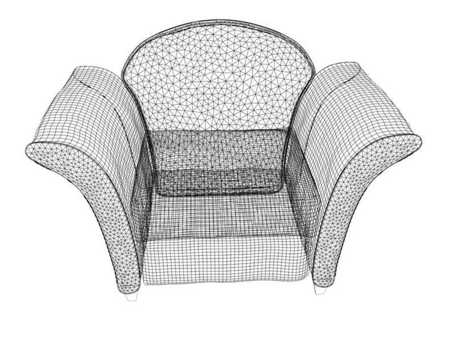 sofa furniture royalty-free 3d model - Preview no. 10