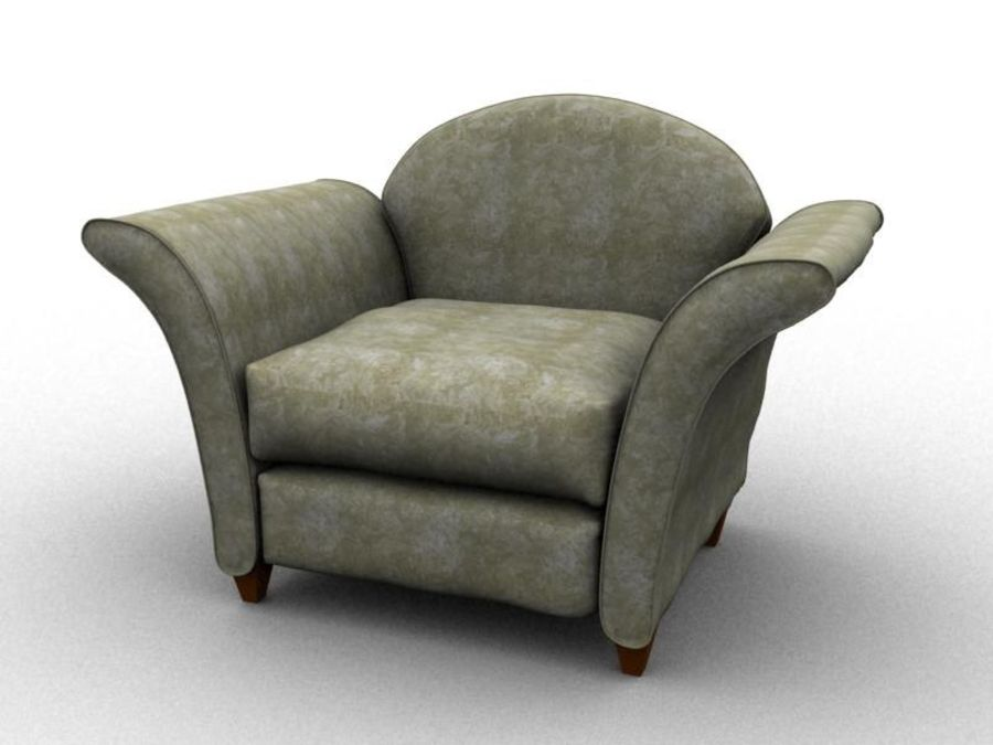 sofa furniture royalty-free 3d model - Preview no. 1