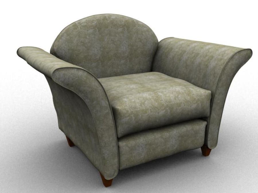 sofa furniture royalty-free 3d model - Preview no. 2