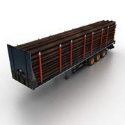 Semitrailer Timber 3d model
