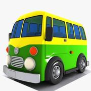Cartoon Minibus 4 3d model