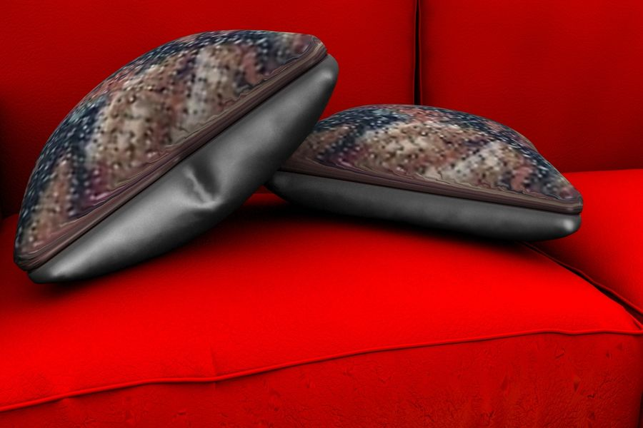 sofa and table royalty-free 3d model - Preview no. 2