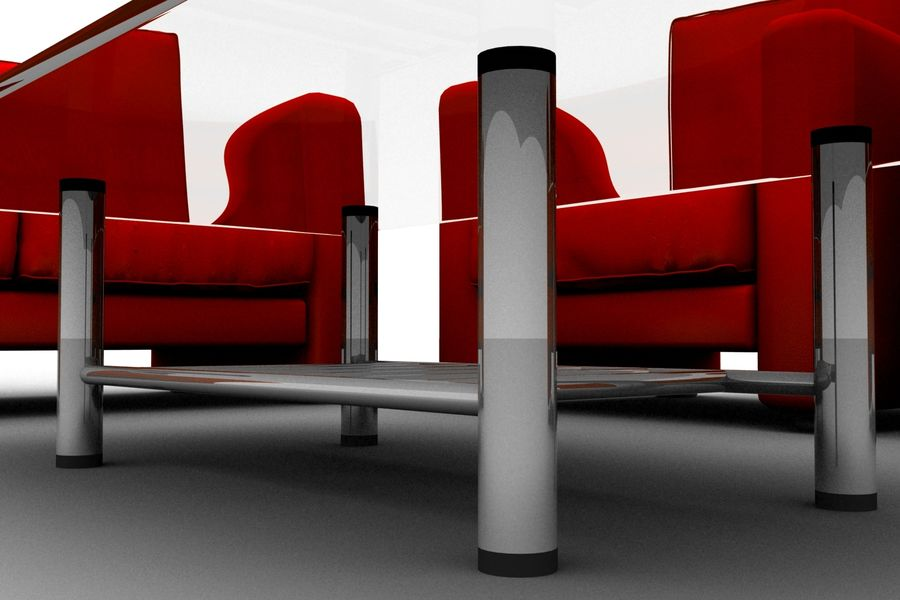 sofa and table royalty-free 3d model - Preview no. 6