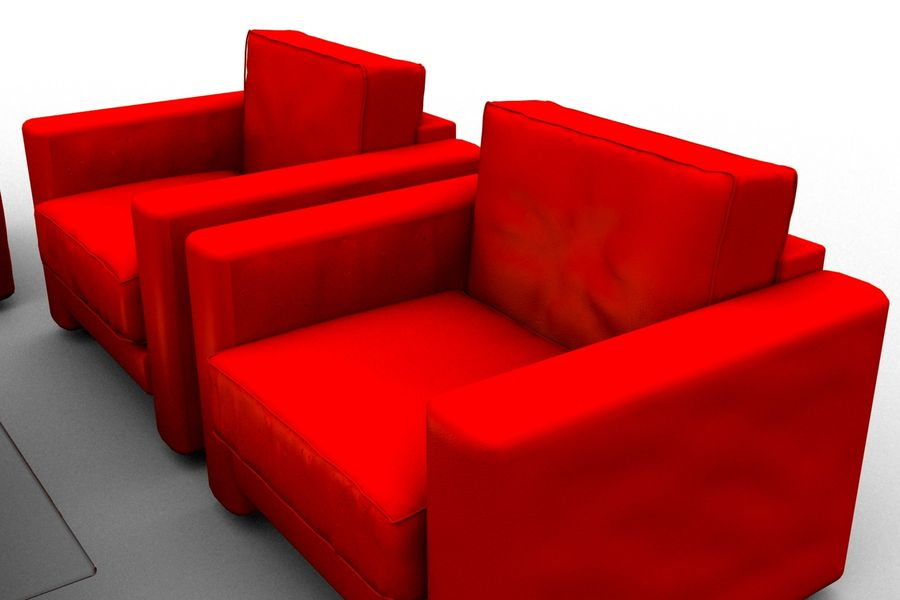 sofa and table royalty-free 3d model - Preview no. 3