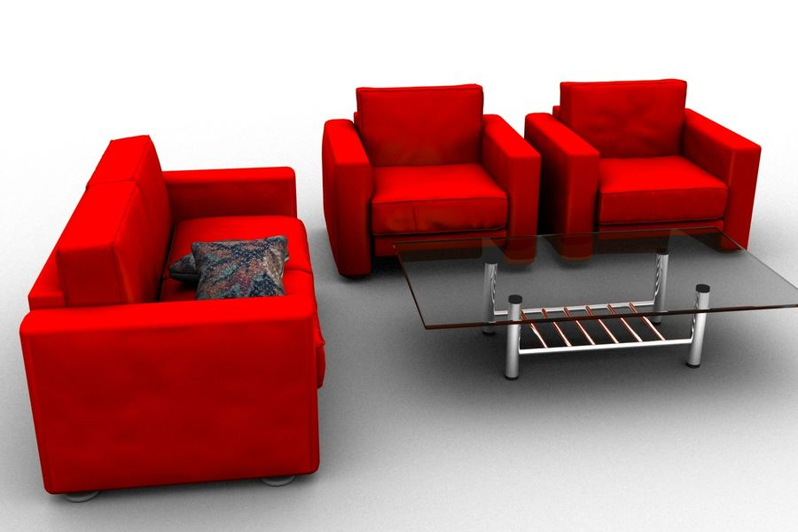 sofa and table royalty-free 3d model - Preview no. 5