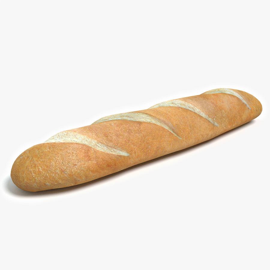 프랑스 빵 royalty-free 3d model - Preview no. 1