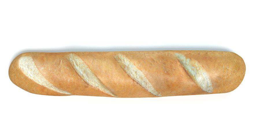 프랑스 빵 royalty-free 3d model - Preview no. 4