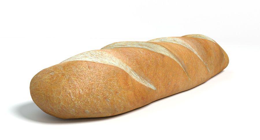 프랑스 빵 royalty-free 3d model - Preview no. 6