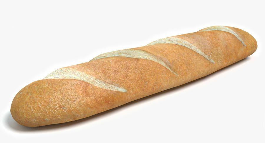 프랑스 빵 royalty-free 3d model - Preview no. 2