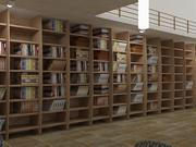 Realistic Library Interior 3d model