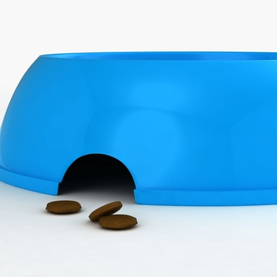 Dog Food Water Bowl royalty-free 3d model - Preview no. 3