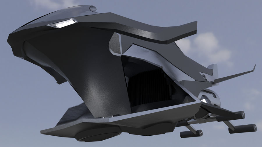"Hover Bike ""Shark FL1"" royalty-free 3d model - Preview no. 3"