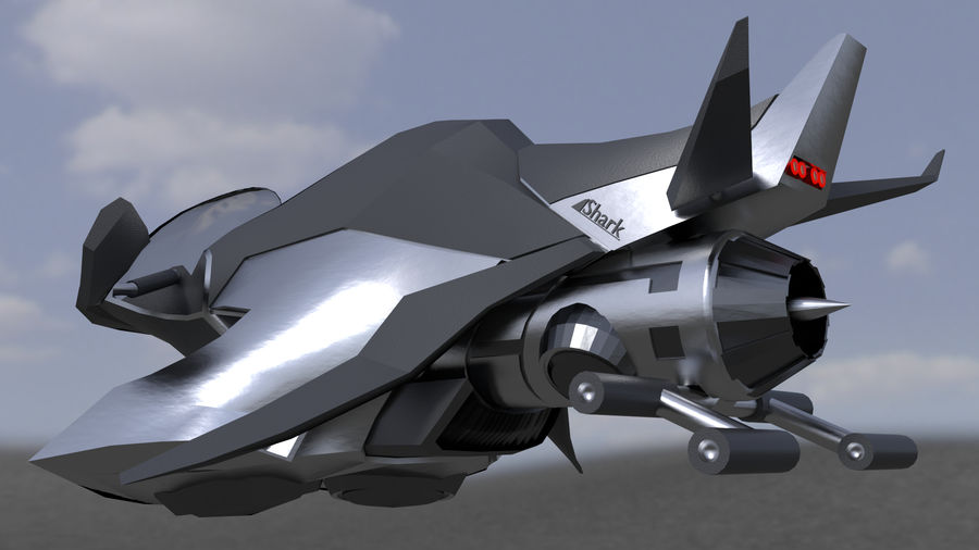 "Hover Bike ""Shark FL1"" royalty-free 3d model - Preview no. 1"