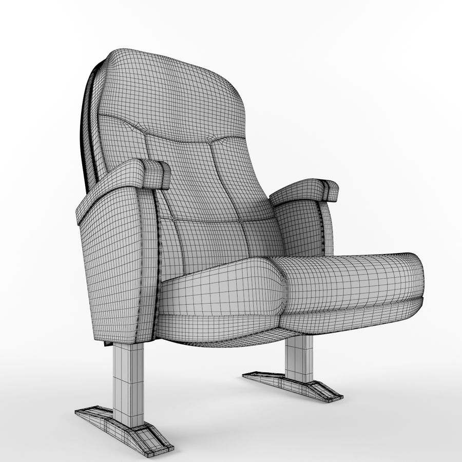 扶手椅电影院 royalty-free 3d model - Preview no. 2