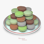Macarons Cookies 3d model