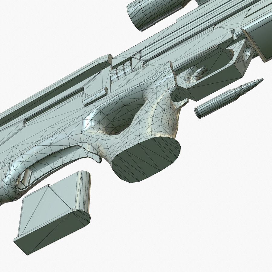 Walther WA 2000 Normalna mapa royalty-free 3d model - Preview no. 20